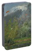 Hang Gliders At Chamonix, 2007 Oil On Canvas Portable Battery Charger