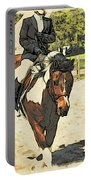 Hang On To Your Painted Horse Portable Battery Charger