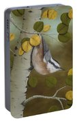 Hanging Around-red Breasted Nuthatch Portable Battery Charger
