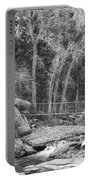 Hanging Bridge In Black And White Portable Battery Charger