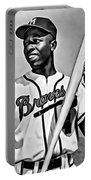 Hank Aaron Painting Portable Battery Charger