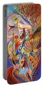 Hanukkah In Magic Garden Portable Battery Charger