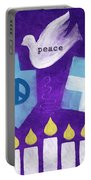Hanukkah Peace Portable Battery Charger