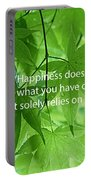 Happiness A Simple Reminder Portable Battery Charger