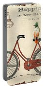 Happiness Is My Bicycle Portable Battery Charger