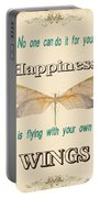 Happinesstypography Portable Battery Charger