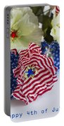 Happy 4th Of July America Portable Battery Charger