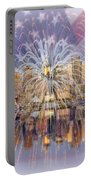 Happy Birthday America Portable Battery Charger by Susan Candelario