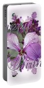 Happy Birthday Greeting Card - Purple Luneria Portable Battery Charger