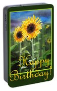 Happy Birthday Happy Sunflowers Couple Portable Battery Charger