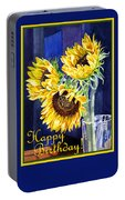 Happy Birthday Happy Sunflowers  Portable Battery Charger