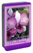 Happy Birthday Orchid Design Portable Battery Charger