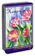 Happy Birthday Poppies Portable Battery Charger
