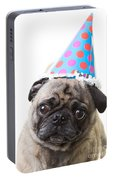 Happy Birthday Pug Card Portable Battery Charger