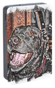 Happy Black Lab  Portable Battery Charger
