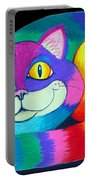 Happy Cat Dark Back Ground Portable Battery Charger