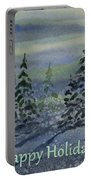 Happy Holidays - Snowy Winter Evening Portable Battery Charger