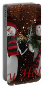 Happy Holidays - Christmas - Snowman Collection - Greeting Cards Portable Battery Charger