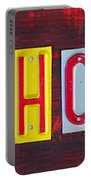 Happy Holidays License Plate Art Letter Sign Portable Battery Charger