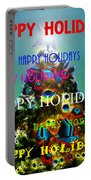 Happy Holidays Word Splash A Portable Battery Charger