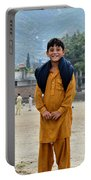 Happy Laughing Pathan Boy In Swat Valley Pakistan Portable Battery Charger