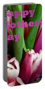Happy Mothers' Day Tulip Bunch Portable Battery Charger