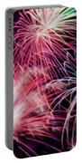Happy New Year Fireworks Night Scene Portable Battery Charger