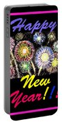 Happy New Year Portable Battery Charger