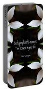 Happy - Omar Khayyam Quote  Portable Battery Charger by Susan Bloom