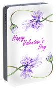 Happy Purple Valentine Portable Battery Charger