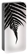 Hapu'u Frond Leaf Silhouette Portable Battery Charger