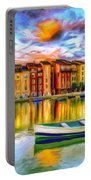 Harbor At Sunset Portable Battery Charger