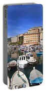 harbor in Camogli - Italy Portable Battery Charger