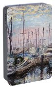 Harbor In Early Morning Portable Battery Charger