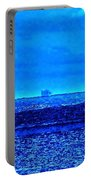 Harbor Of Refuge Lighthouse And Sailboat Abstract Portable Battery Charger