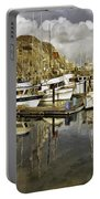 Harbor Reflection Impasto Portable Battery Charger