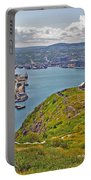 Harbour View From Signal Hill National Historic Site In Saint John's-nl Portable Battery Charger