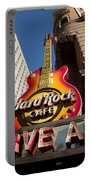 Hard Rock Cafe Guitar Sign In Philadelphia Portable Battery Charger