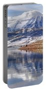 Hardy Fishermen Deer Creek Reservoir And Timpanogos In Winter Portable Battery Charger