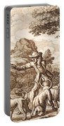 Hare Hunting, Engraved By Wenceslaus Portable Battery Charger