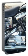 Harley Black And Silver Sideview Portable Battery Charger