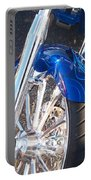 Harley Close-up Blue Flame  Portable Battery Charger