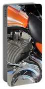 Harley Close-up Orange 1 Portable Battery Charger