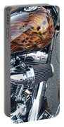 Harley Close-up Skull Flame  Portable Battery Charger