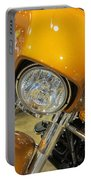 Harley Close-up Yellow 2 Portable Battery Charger