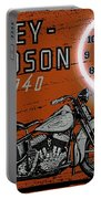 Harley Davidson 1940s Sign Portable Battery Charger