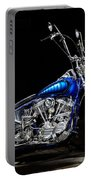 Harley-davidson Panhead Chopper From The Wild Angels Portable Battery Charger