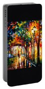 Harmony - Palette Knife Oil Painting On Canvas By Leonid Afremov Portable Battery Charger