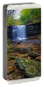 Harrison Wright Falls In Autumn Portable Battery Charger