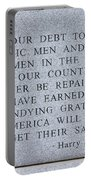 Harry S Truman Quote Memorial Portable Battery Charger